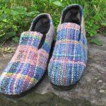 さをり織りの靴